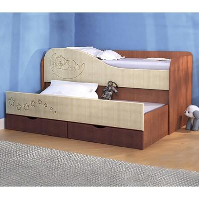 Кровать двухъярусная с выдвижной секцией