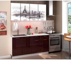 """Кухня """"Париж"""" фотопечать"""
