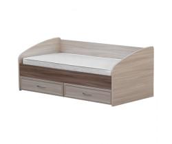 Кровать с ящиками (3 борта)